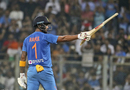 KL Rahul celebrates his fifty, India v West Indies, 3rd T20I, Mumbai, December 11, 2019