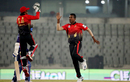 Al-Amin Hossain celebrates a wicket, Comilla Warriors v Rangpur Rangers, Bangladesh Premier League, Dhaka, December 11, 2019
