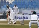 Niroshan Dickwella plays one with bat away from body, Pakistan v Sri Lanka, 1st Test, Rawalpindi, Day 2