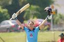 Nat Sciver celebrates her third ODI hundred, Pakistan v England, 2nd women's ODI, Kuala Lumpur, December 12, 2019