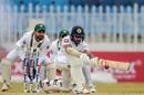 Niroshan Dickwella sweeps, Pakistan v Sri Lanka, 1st Test, Rawalpindi, Day 2
