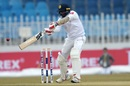 Dilruwan Perera pushes one towards point, Pakistan v Sri Lanka, 1st Test, Rawalpindi, Day 3