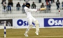 Dhananjaya de Silva deals with a short ball, Pakistan v Sri Lanka, 1st Test, Rawalpindi, Day 3