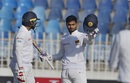 Dhananjaya de Silva celebrates his hundred, Pakistan v Sri Lanka, 1st Test, Rawalpindi, Day 5