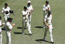 Tim Southee gets applauded by his teammates after his five-wicket haul, Australia v New Zealand, 1st Test, Perth, 4th day, December 15, 2019