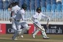 Azhar Ali is sent back by Abid Ali after a near mix-up, Pakistan v Sri Lanka, 1st Test, Rawalpindi, Day 5