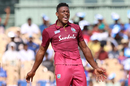 Sheldon Cottrell is over the moon after picking up a wicket, India v West indies, 1st ODI, Chennai, December 15, 2019