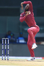 Roston Chase loads up to bowl, India v West indies, 1st ODI, Chennai, December 15, 2019