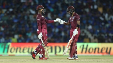 Shimron Hetmyer and Shai Hope shared a massive stand