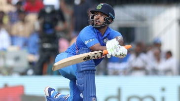 Rishabh Pant goes leg side during the first ODI against West Indies