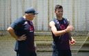 Chris Silverwood chats to James Anderson at England nets, Benoni, December 16, 2019