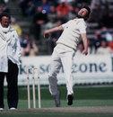 England's Mike Hendrick bowls, Edgbaston, 1981