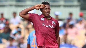Sheldon Cottrell brings out the salute