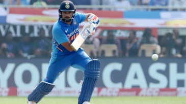 Rohit Sharma laces the ball through the off side