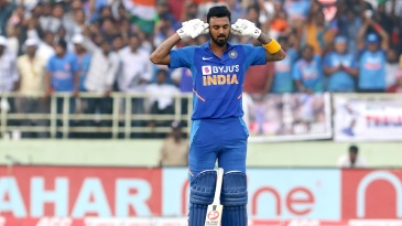 KL Rahul sends out a message after bringing up his 3rd ODI century