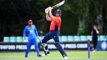 Iain Nairn bats during the Physical Disability World Series 2019 semi-final between England and Afghanistan