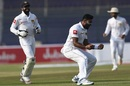 Lahiru Kumara exults after picking up a wicket, Pakistan v Sri Lanka, 2nd Test, Karachi, day 1, December 19, 2019
