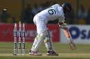 Mohammad Rizwan is knocked over by an inducker, Pakistan v Sri Lanka, 2nd Test, Karachi, day 1, December 19, 2019