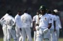 Asad Shafiq walks away after his dismissal, Pakistan v Sri Lanka, 2nd Test, Karachi, day 1, December 19, 2019