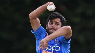 Ravi Bishnoi in action for India Under-19