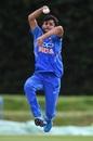 Ravi Bishnoi in action for India Under-19, July 2019