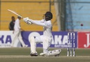 Lasith Embuldeniya edges a slog to second slip, Pakistan v Sri Lanka, 2nd Test, Karachi, 2nd day, December 20, 2019