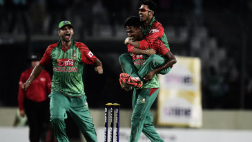 Fizzical education: India were introduced to the tricks of Mustafizur Rahman in Dhaka in June 2015