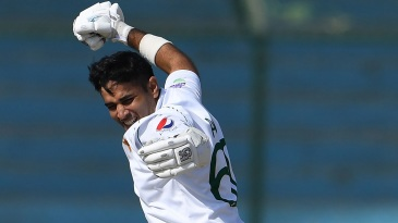 Abid Ali is jubilant after his hundred