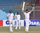 Azhar Ali celebrates his hundred, Pakistan v Sri Lanka, 2nd Test, Karachi, 4th day, December 22, 2019