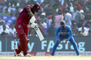 Evin Lewis punches down the ground, India v West Indies, 3rd ODI, Cuttack, December 22, 2019