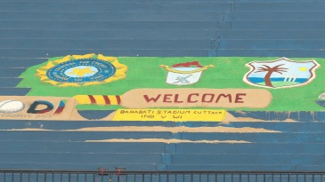 A spot of art to welcome everyone to Barabati Stadium