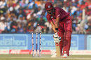 Roston Chase is cleaned up by a yorker, India v West Indies, 3rd ODI, Cuttack, December 22, 2019