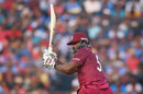 Kieron Pollard whips one into the leg side, India v West Indies, 3rd ODI, Cuttack, December 22, 2019