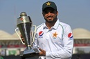 Azhar Ali poses with the winner's trophy, Pakistan v Sri Lanka, 2nd Test, Karachi, Day 5, December 23, 2019