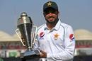 Azhar Ali poses with the winner's trophy, Pakistan v Sri Lanka, 2nd Test, Karachi, Day 5, December 23, 2019