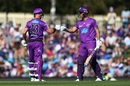 D'Arcy Short and Ben McDermott added 74 runs for the third wicket, Hobart Hurricanes v Melbourne Renegades, Big Bash League, Hobart, December 24, 2019