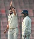 Ishant Sharma goes up in an appeal, Delhi v Hyderabad, Ranji Trophy 2019-20, Group A, Delhi, 2nd day, December 26, 2019