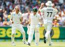 Neil Wagner celebrates removing Steven Smith, Australia v New Zealand, 2nd Test, Melbourne, 2nd day, December 27, 2019