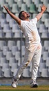 Karn Sharma celebrates a wicket during Railways' win over Mumbai, Mumbai v Railways, Ranji Trophy 2019-20, 3rd day, Mumbai, December 27, 2019