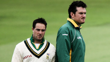 Graeme Smith and Mark Boucher ahead of the day's play