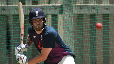 Dom Sibley in action during England nets earlier in the tour