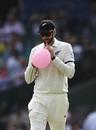 William Somerville deflates a balloon, Australia v New Zealand, 3rd Test, Sydney, 1st day, January 3, 2020