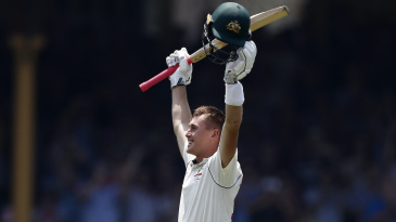 Marnus Labuschagne celebrates his double century