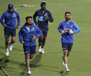 Not the race for No. 4? Rishabh Pant and Virat Kohli lead Manish Pandey and Sanju Samson while warming up, Guwahati, January 3, 2020