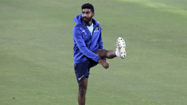 Jasprit Bumrah stretches out