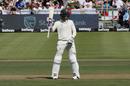 Rassie van der Dussen celebrates after scoring a half-century, South Africa v England, 2nd Test, Cape Town, 2nd day, January 4, 2020