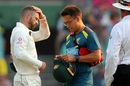 Matthew Wade was hit on the helmet while fielding at short leg, Australia v New Zealand, 3rd Test, Sydney, 2nd day, January 4, 2020