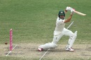 Joe Burns plays square of the wicket, Australia v New Zealand, 3rd Test, Sydney, 4th day, January 6, 2020