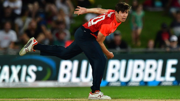 Pat Brown made his England debut in their T20I series against New Zealand