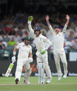 Jos Buttler takes the catch for the wicket of Dean Elgar, South Africa v England, 2nd Test, Cape Town, 4th day, January 6, 2020